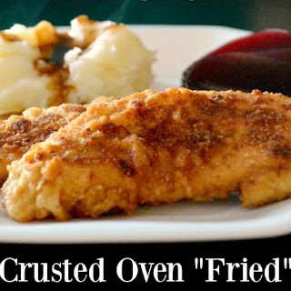 Granola Crusted Oven Fried Chicken