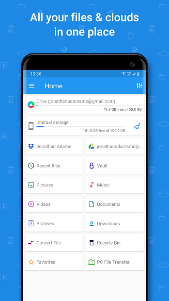File Commander - File Manager & Free Cloud Android App Screenshot