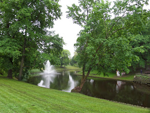 Photo: The moat around the old town was turned into a canal with park land on both sides.