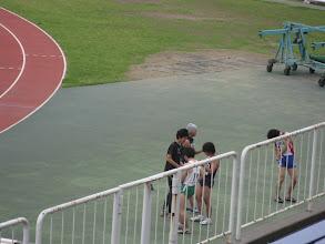 Photo: 男子100mの一組目(何で撮ったんだろう?)