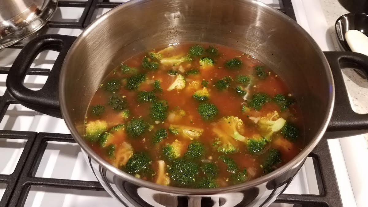 Tomato~Broccoli~Rice Soup