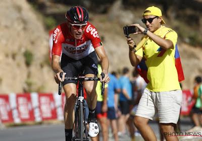 """Lotto Soudal-Belg onzeker voor vervolg Vuelta: """"Op de foute plek op het foute moment"""""""