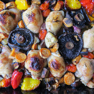 Week Day Chicken Traybake with Roasted Vegetables.