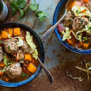 Mexican Meatball Soup With Butternut Squash And Cilantro