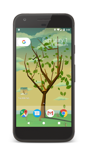 Tree With Falling Leaves Live Wallpaper - FREE ss1
