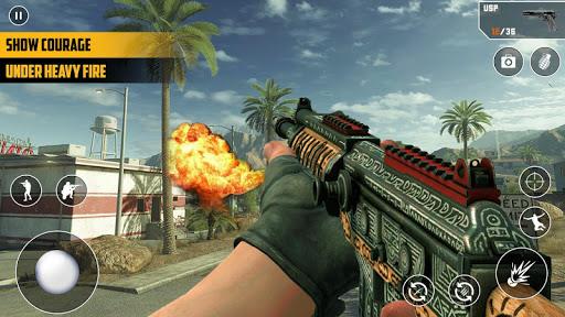 Anti-Terrorist FPS Shooting Mission:Gun Strike War android2mod screenshots 8