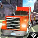 City Cargo Truck Transport 3D icon