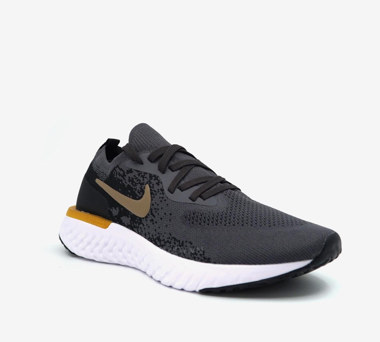 Giày Nike Epic React Flyknit  Grey/Black Gold