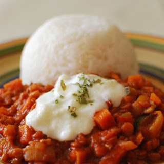 Sweet Potato, Vegetable and Lentil Chilli