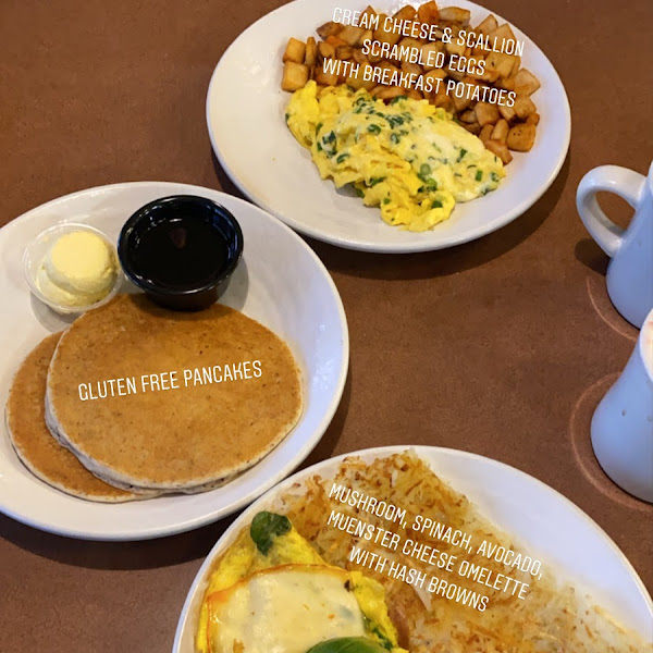 This was the breakfast my boyfriend and I shared. Big portions and the food was INCREDIBLE