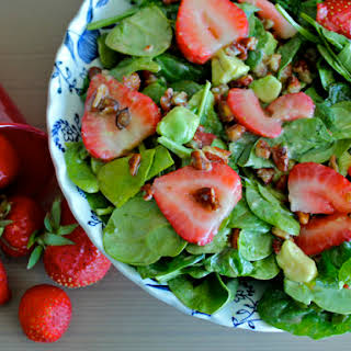 Strawberry Spinach Salad with Cider Dressing.