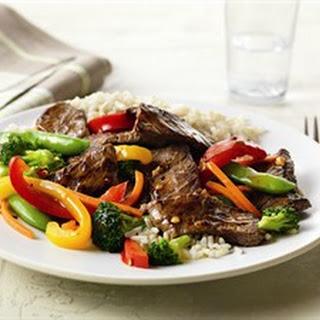 Asian Beef Vegetable Stir Fry.