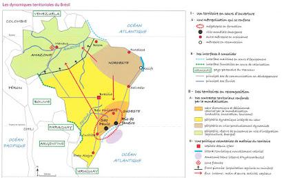 carte bresil terminale s États Unis Brésil : rôle mondial, dynamiques territoriales