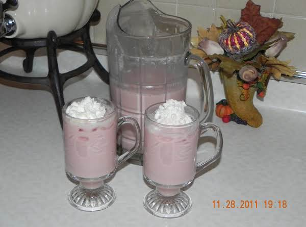 Berry Pink Eggnog Punch