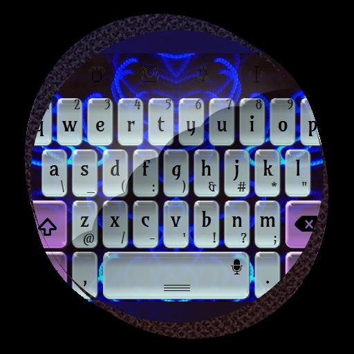 个人化の蛍光ブルー TouchPal テーマ LOGO-記事Game