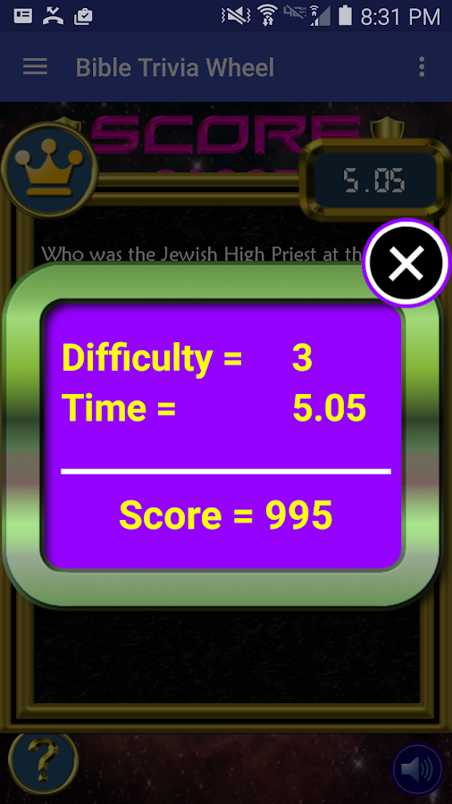 Bible Trivia Wheel - Bible Quiz- screenshot