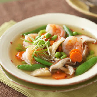 Asian Shrimp and Vegetable Soup.