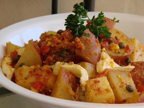 Smoky Chorizo And Red Pepper Tapas Potato Salad Recipe