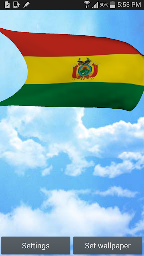Bolivia Flag 3D Live Wallpaper