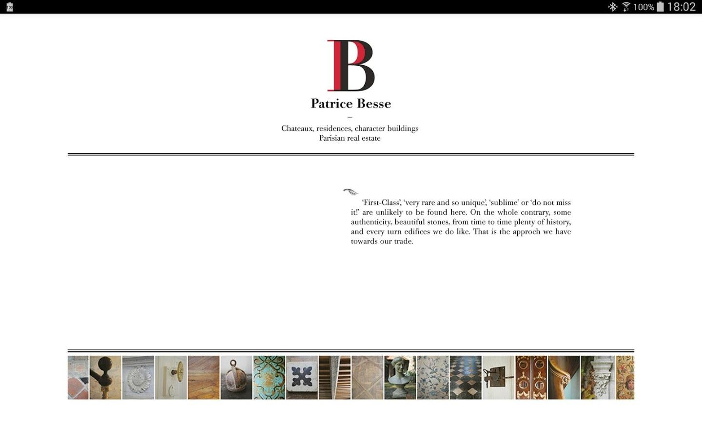 Patrice Besse for tablet- screenshot