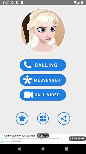 Elssa princess fake call apkpoly screenshots 1