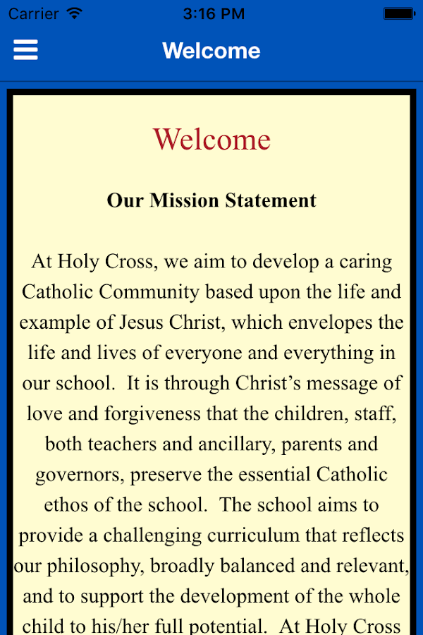 Holy Cross Primary CVA- screenshot