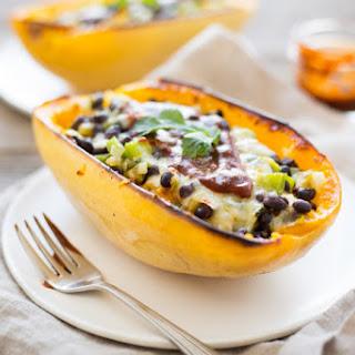 Vegetarian Enchilada Spaghetti Squash Boats Recipe