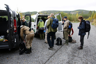 Photo: Gearing up to go to the field site in Skuleskogen