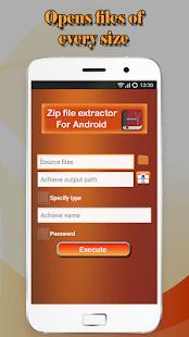 Nástroj Zip File Extractor - náhled