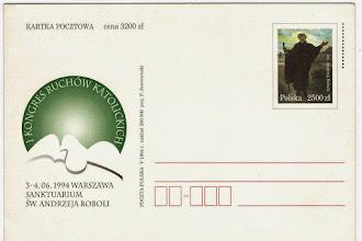 Photo: Okolicznościowa karta pocztowa, nr kat. Cp 1071.