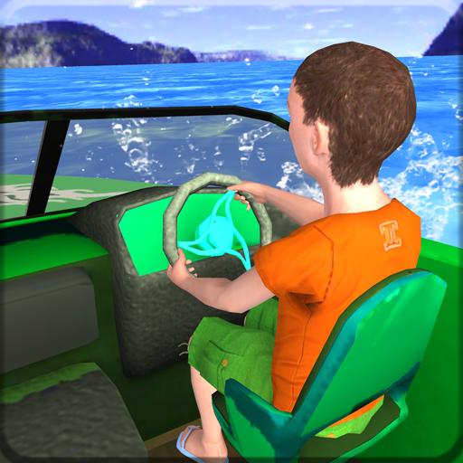 Kids Water Taxi Boat Ride Simulator : Stunts Arena