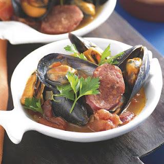 Chorizo and Mussels.