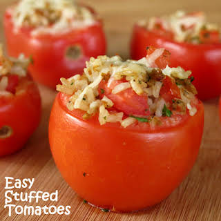 Easy Stuffed Tomatoes with Rice.