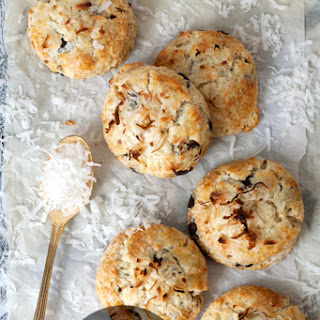 Coconut + Chocolate Chip Scones