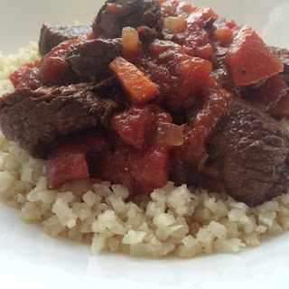 Paleo Beef Stew Over Cauliflower Rice