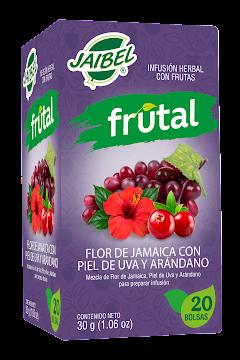 Té Aromática JAIBEL   Frutal Flor de Jamaica Uva y Arándano x20Und.