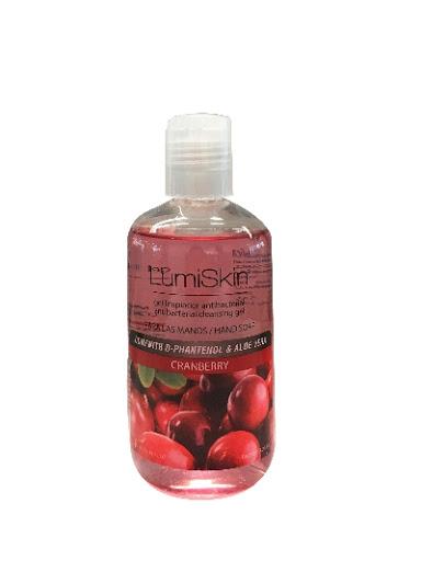 jabon liquido lumiskin para manos cranberry 240ml
