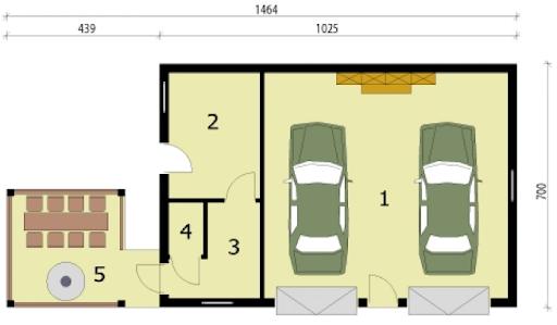 G247 - Rzut garażu