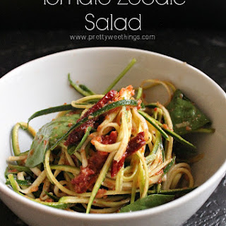 Tomato Zoodle Salad With 2 Minute Tomato Sauce