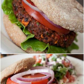 Vegan Black Bean Burgers.