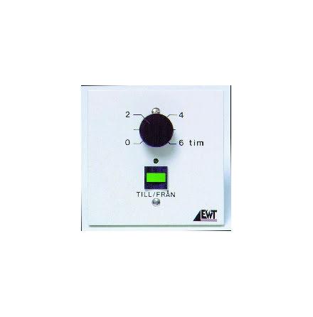 Timer, tidsinställning i fronten, 0-6tim, 24VAC/DC el 230VAC