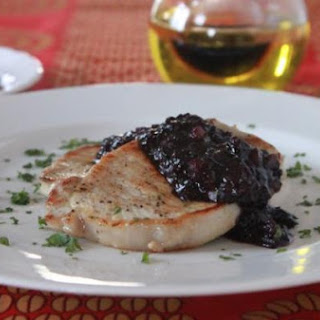 Pork with Blueberry Sauce.