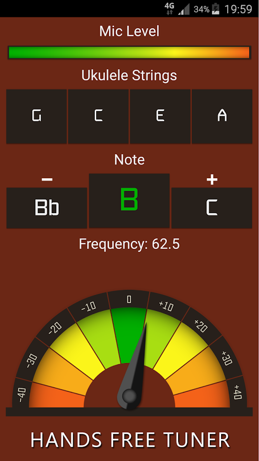 Ukulele Tuner Free- screenshot