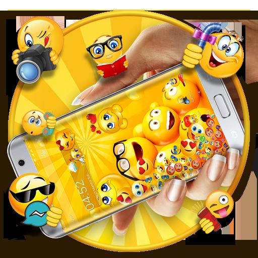 Cute Emoji Gravity Launcher Theme
