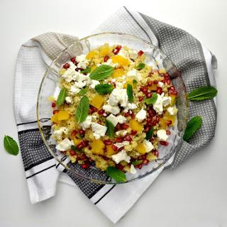 Pomegranate, Orange, Feta and Mint Cous Cous Salad