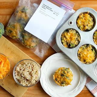 Cheesy Broccoli Rice Casserole Cups – Diet Version.