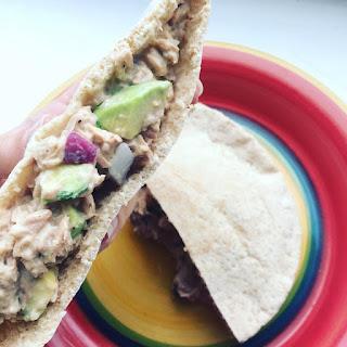 Cilantro Avocado and Tuna Salad Sandwiches.