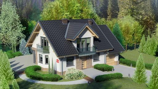 projekt Dom przy Cyprysowej 14 DN