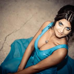 Blue Eyes 1 by Doru Iachim - People Portraits of Women ( body parts, blue, woman, beautiful, beauty, eyes,  )