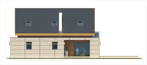 Alamo wersja B z pojedynczym garażem - Elewacja prawa